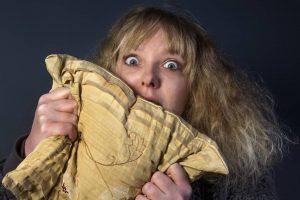 Frightened Woman Watch Horror Movie
